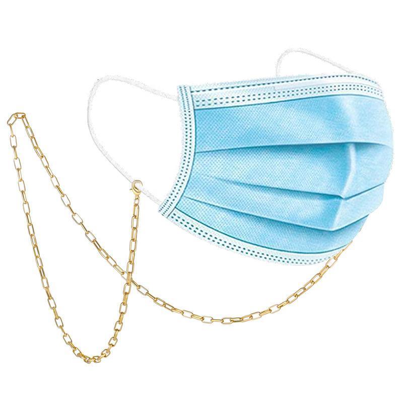 Gafas de sol Marcos de moda Cadena de enlace de color de oro para máscaras Mujeres Gafas Cadenas Cuerdas Cuerdas Correa Correa Cuerda Accesorios para gafas
