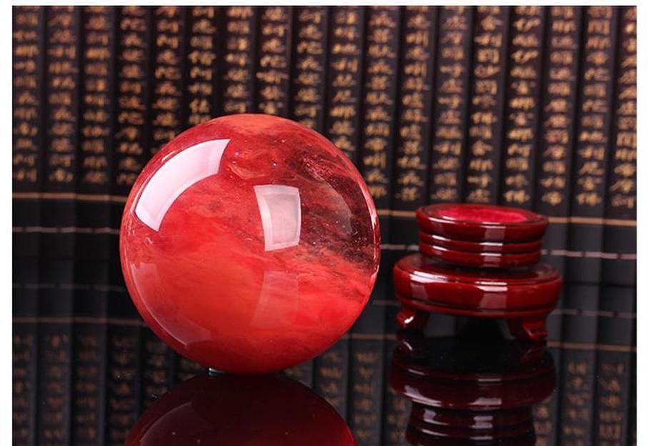 Подарочный хрустальный сфера Кристаллический шар плавка мм красный домашний каменный шар красный заживление послушни поделки искусство 48--55 SQCJZ Sports2010