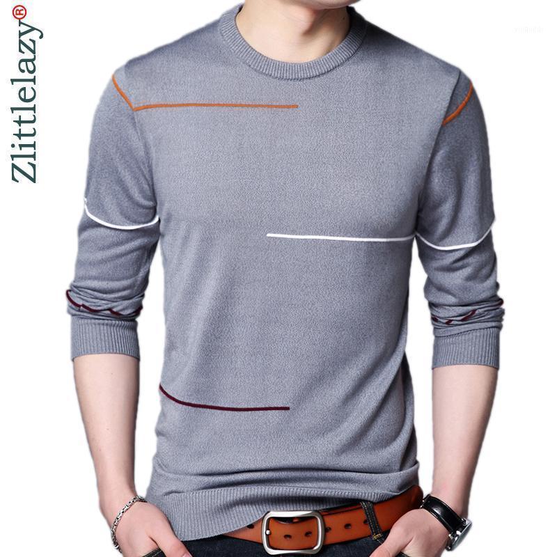 2021 Designer pulôver listrado homens camisola vestido fino jersey tricotadas suéteres desgaste magro fit knitwear moda roupas 525331