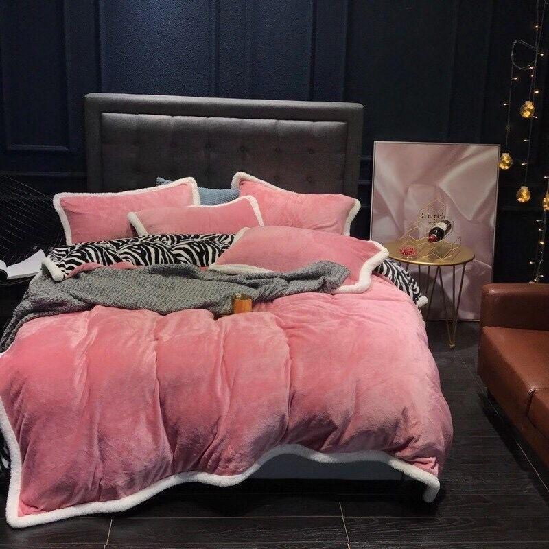 2021 Pink Designer Literie Ensembles de literie Couverture Couette de lit King Size Couvre-lit Cover 4 PCS Oreiller Case de haute qualité Reine Couvre-couverture