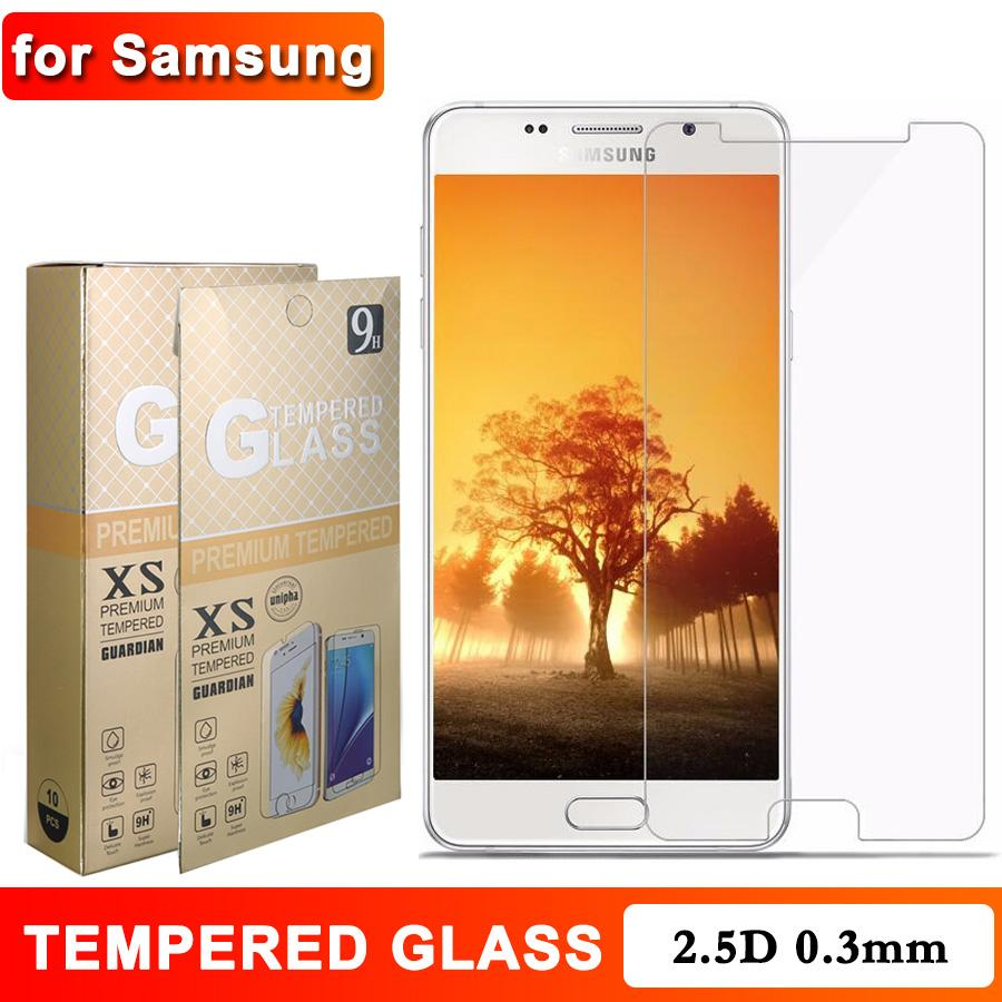 For Samsung A50 M41 J7 Screen Protector for iPhone 12 11 Pro Max XR XS Max 2.5D Retail Package 0.3mm 9H for LG G4 Huawei Honor
