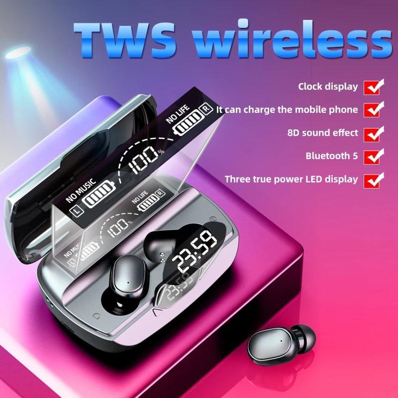 2021 NOUVEAU G6 TWS 5.1 Casque Bluetooth Sports Sans fil Dis-LED Crochet d'oreille Crochet Ecouteurs IPX7 Écouteurs imperméables avec chargeur