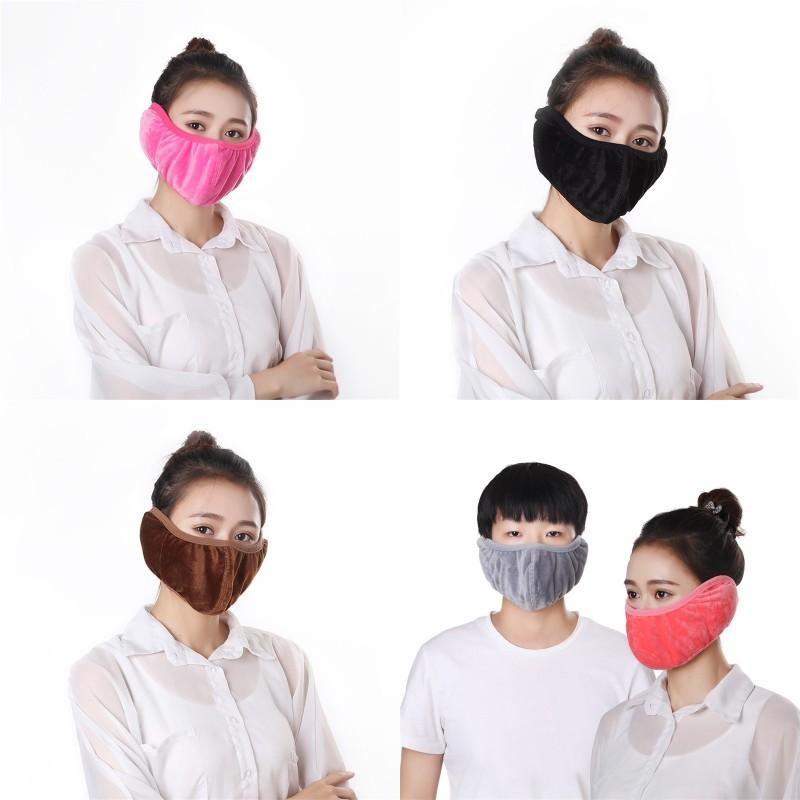 Zwei in einem Mund Masken Männer Frauen Staubdichte Waschbare faltbare Liebhaber Ohrschutz Gesichtsmaske Winter Neue Ankunft 3 58JT J2