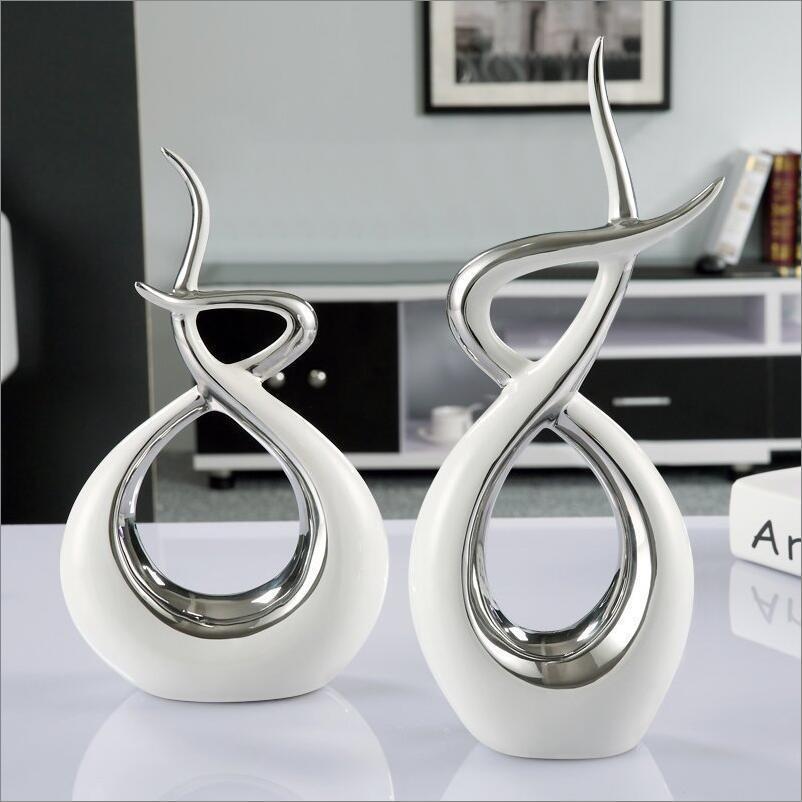 Moderno European Ceramic Lover Forma Desktop Ornamentos Muebles para el hogar Decoración de la decoración Arte Regalos de boda Estatuillas Decoración de oficina Y200104