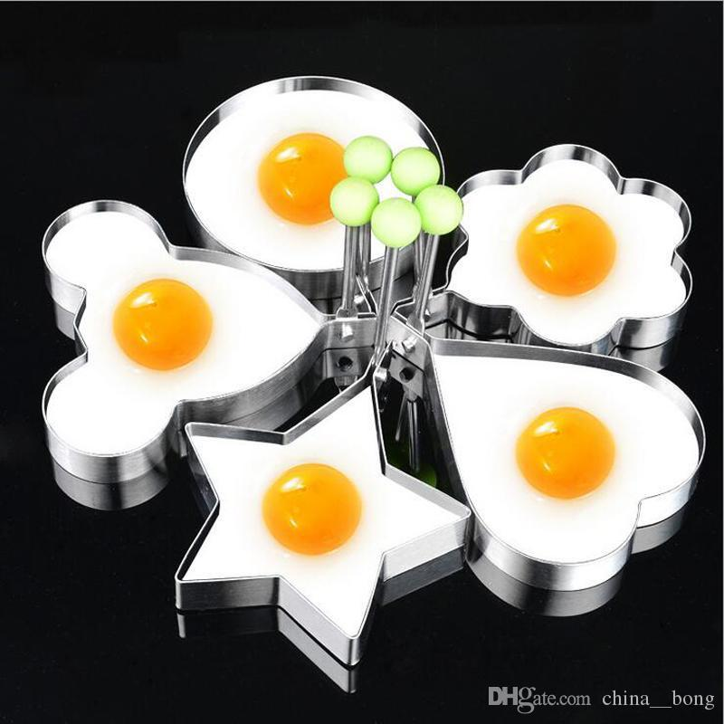 Kitchen DIY Baking Suit Thickened Stainless Steel Fried Egg Pancake Baking Moulds Cartoon Animal Bakeware Cake Model 5 Style Available