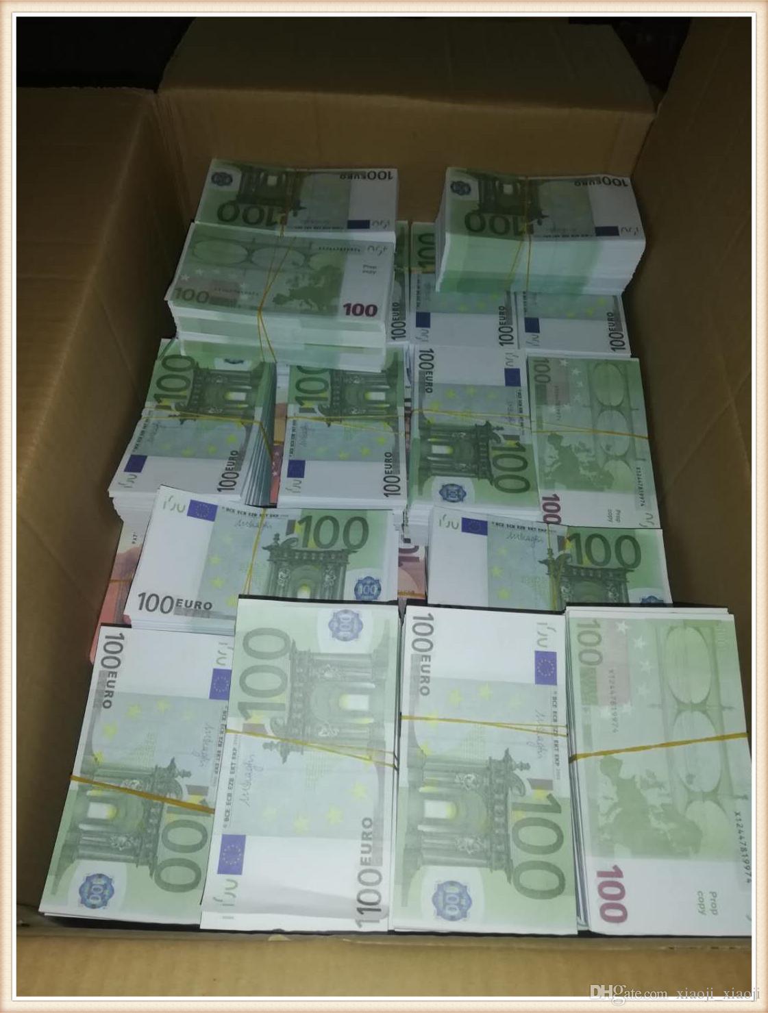 Pratica dei soldi del giocattolo di vendita a caldo 100 falsi Token05 Puntelli cinematografici della moneta Televisione Euro e Shooting Simulation Game Bar EEOCF