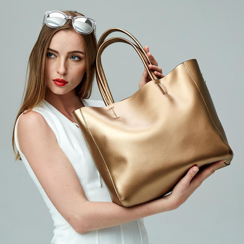 حقيبة المرأة 2021 حقيبة مومياء جديدة الأوروبية والأمريكية التسوق سعة كبيرة سوبر لينة جلد الكتف حقيبة يد الساخن