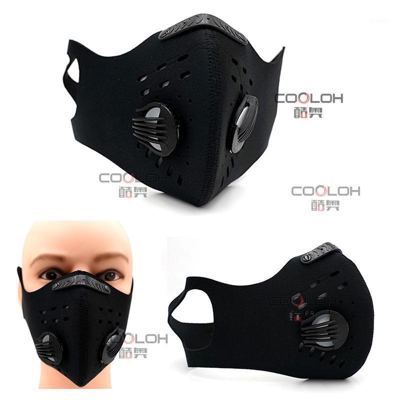 Половина маски для лица многоразовая пыль эластичный велосипедный на открытом воздухе PM2.5 активированный углеродный спортс
