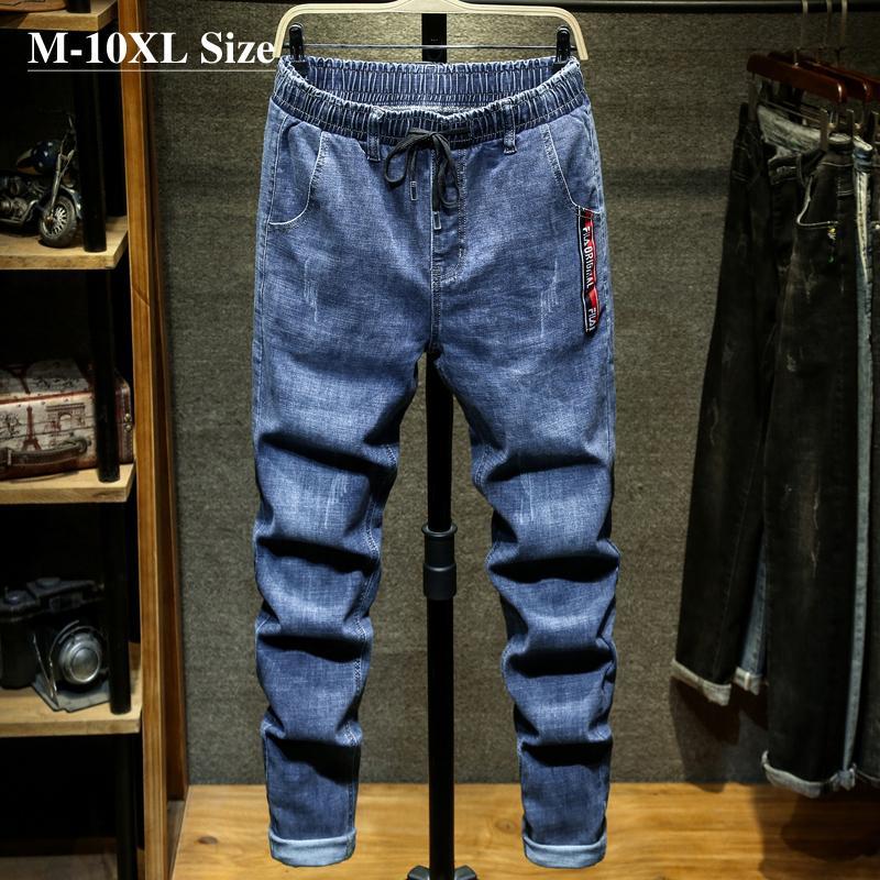 Plus Größe 7XL 8XL 9XL 10XL Herren Mode Jeans Streetwear Harem Hosen Große Taschen Stretch Casual Denim Hose Männliche Marke