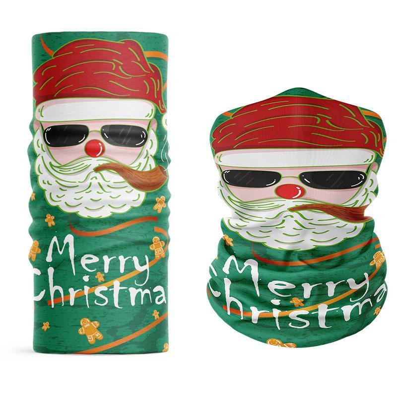 Sciarpa di Natale Bandana Bicicletta Bicicletta Seamless Seamless Collo Neck Cycling Testa Sciarpa Carshand Turban Mask Sport Outdoor Sport Maschera UV-protezione UV VTKY2093