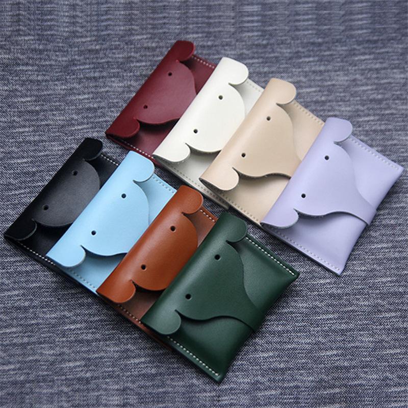 Cambiar la cartera de cuero de la PU Elefante Tarjeta de la Tarjeta de la Tarjeta Multifuncional Bolsa de almacenamiento