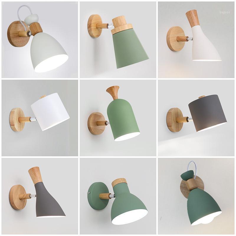Многократные стили настенные светильники светодиодные фонари деревянные утюги спальня прикроватная светильник коридор светодиодный свет освещения светильника MX41614341