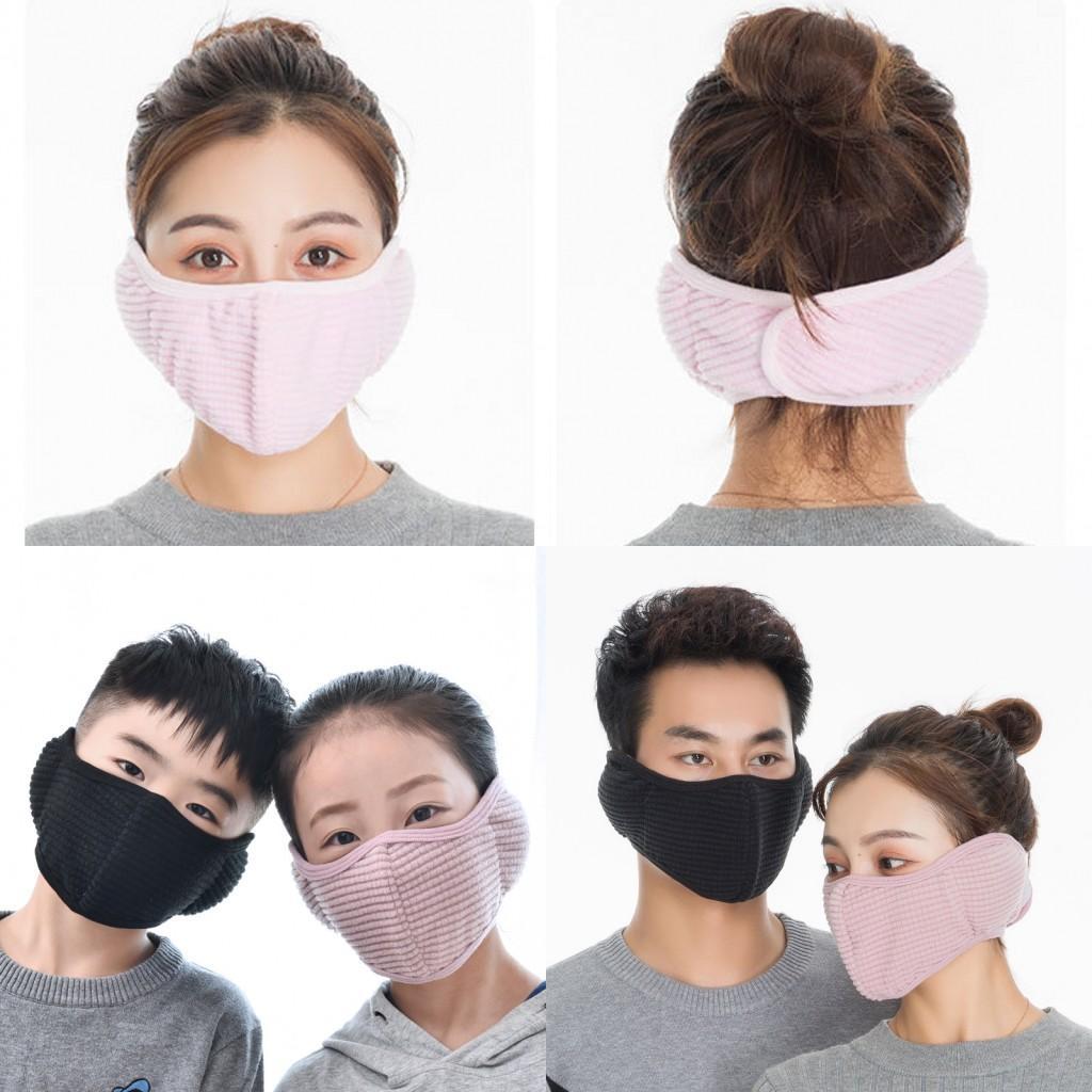 Inverno quente algodão flanela rosto orelha massas máscara motociclista motor motorista motor motorista máscara protetores de ouvido reutilizável lavável uma peça máscara facial fy9225