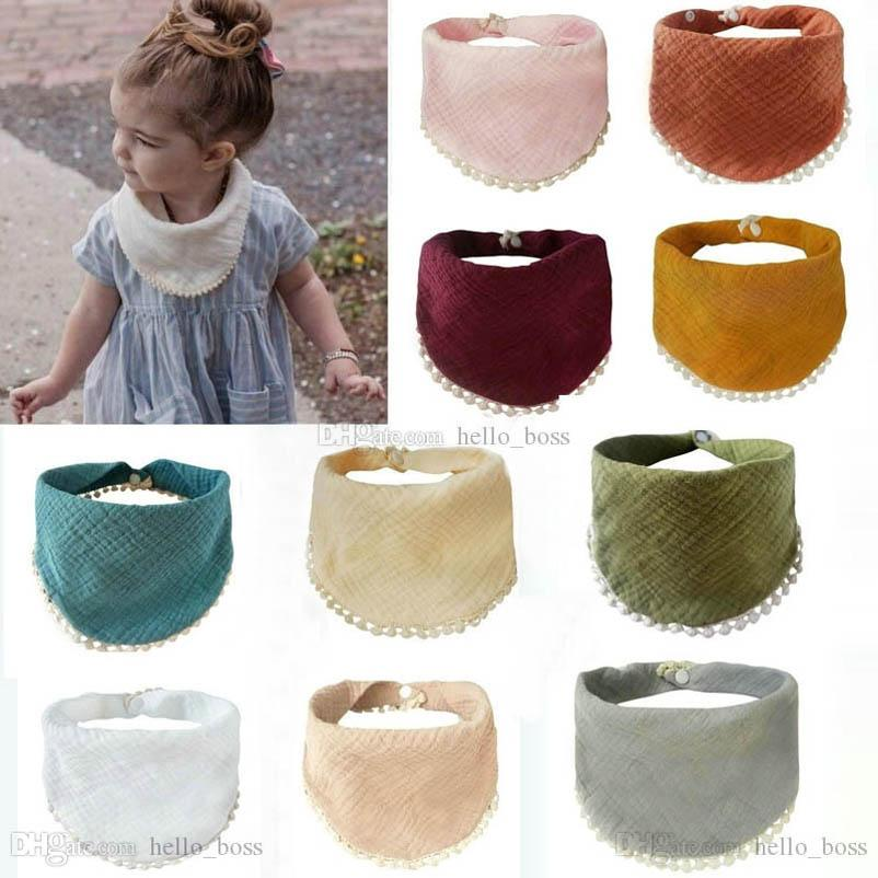 Sweet lace Baby Bibs Cotton Newborn Bib Burping Cloths Girl Bibs Baby Gifts Newborn Baby Clothes 20pcs/lot wholesale B3690