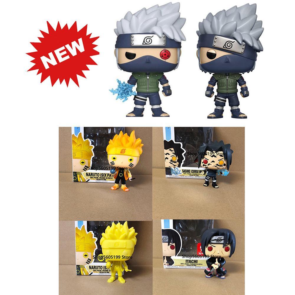 Pop Naruto Sasuke Kurama Itachi Kakashi Model Figure collezionabile modello giocattolo per regalo con scatola LJ200924