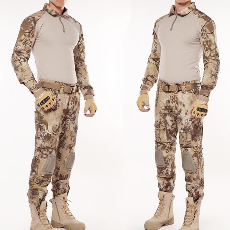 الجيش G2 بنكو دلتا آسيا القتالي التكتيكي الموحدة القميص سروال بدلة رجالية Kryptek هايلاندر التمويه قناص ملابس الصيد