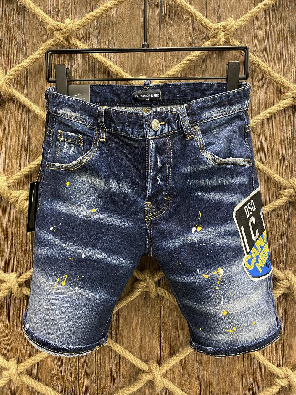 DSQ JEANS MEN JEANS MENS MENS DE DESIGNERJEUX SKINNY RIPPÉRÉ COOL GUY GUY DENIM Denim Fashion Brand Fit Jeans Hommes Pantalon lavé 10167
