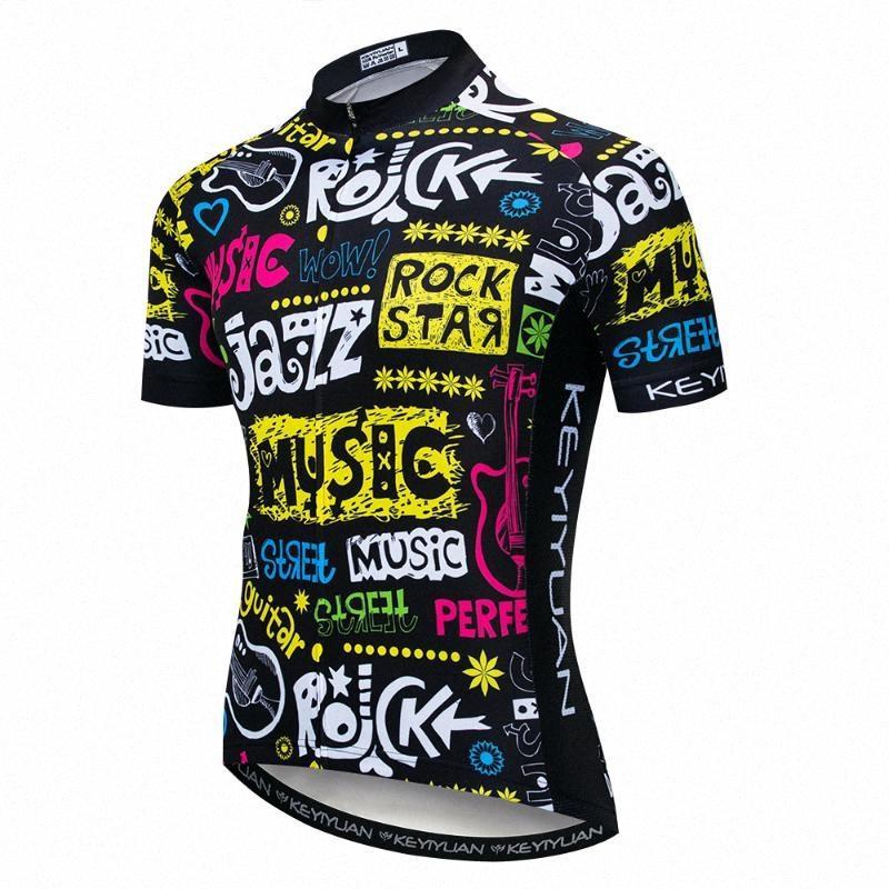 2019 Jersey de ciclo de los hombres de la bici de la bicicleta Jerseys Tops de ciclo Camisa del equipo Ropa Ciclismo MTB de la montaña camiseta transpirable colorido IEFu #