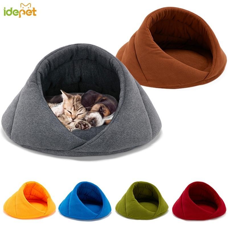 دافئ الحيوانات الأليفة لينة مناسبة الصوف السرير البيت للكلب وسادة القط كيس النوم عش جودة عالية LJ200918