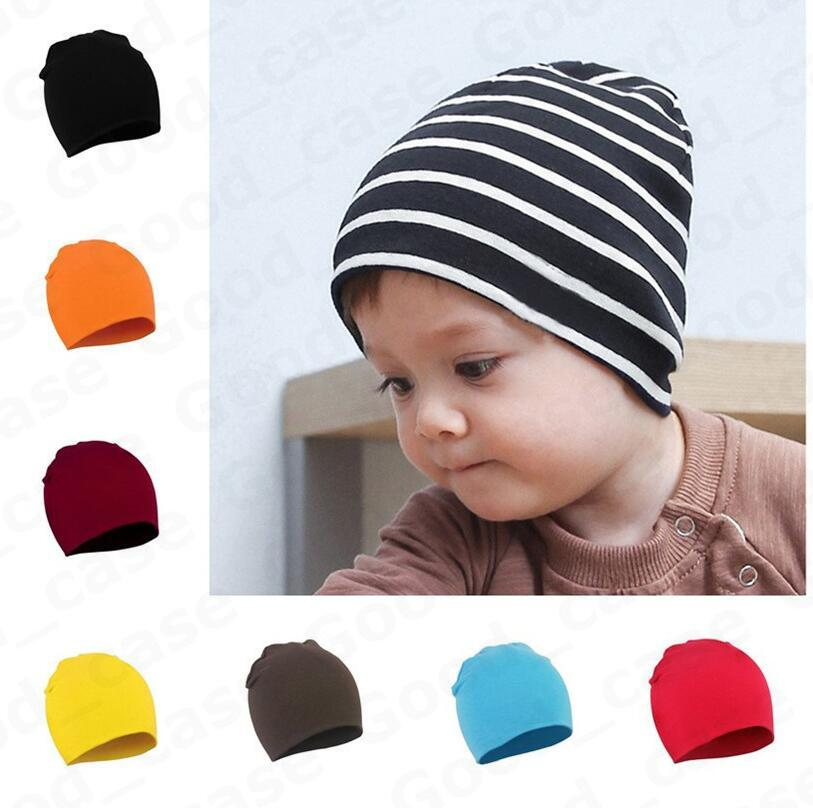 Toddler Newborn Baby Hats Winter Warm Knit Hat Kids Boys Girls Candy Color Knitting Hats Infant Earmuffs Beanies Caps Skull Hats F101301