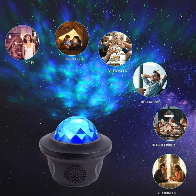 1 PCS USB LED Bluetooth Music Starlight Starlight Projecteur Galaxy Watermark papillon Starry Night Lamp Star Sky Projecti Bbylsg
