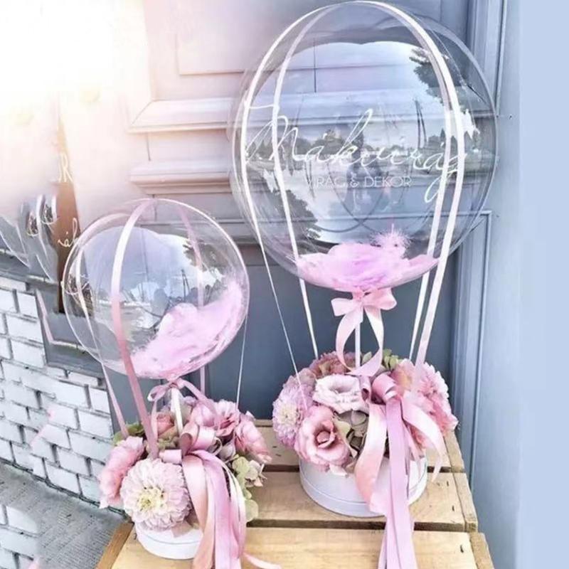 Romantische DIY Hochzeit Geschenkbox Flower Box Verpackung Kreative Ballon Aufkleber Für Valentinstag Geburtstag Überraschungsgeschenk
