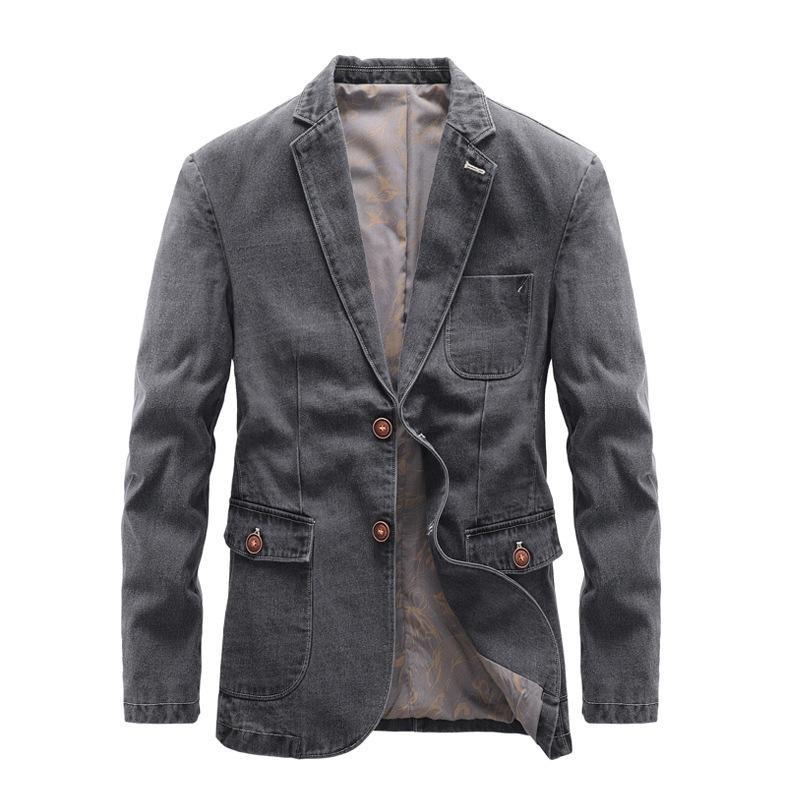 Mcikkny мужская осень повседневные джинсовые куртки мода старинные вагоны пальто мужская ветрозка одежда
