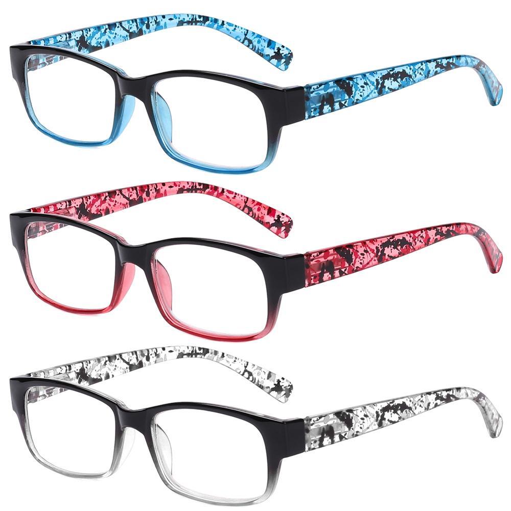 Diopters +1 ~ + 4 Presbicia para lupar mujeres leyendo resina hombres gafas bisagra moda vista gafas jljsu