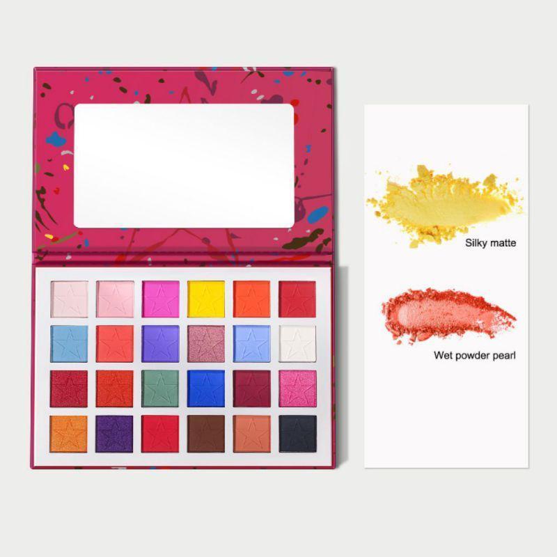 Natürliche 24-Farben-Palette Lidschatten Langlebig Wasserdicht wischfest Color Eye Shadow SC30