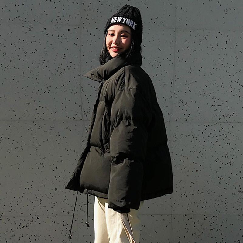 Kış Moda Kadın Parkas Aşağı Pamuk Yastıklı Ceket Sıcak Kalın Gevşek Boy Osild Pamuk Ceketler Kadın Rahat Ekmek Mont 201203