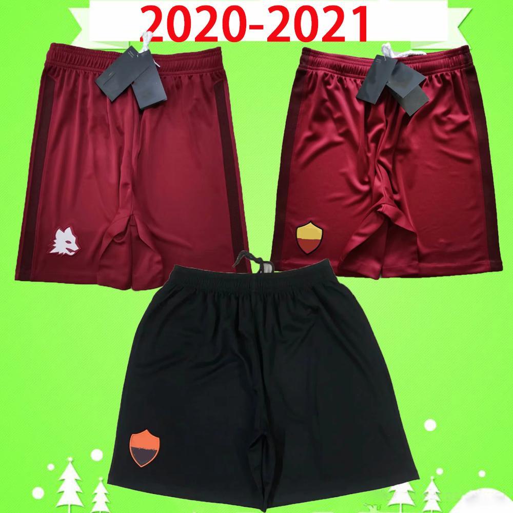 Rome 20 21 Roma Soccer Shorts Adulte Hommes 2020 2021 Accueil Rouge Troisième pantalon de football Zaniolo el Shaarawy Dzeko Kolarov Cristante Kluivert