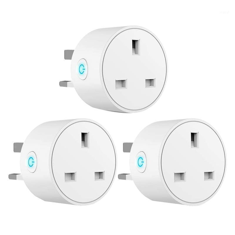 Plugues de alimentação inteligente WiFi Outlet Plug funciona com Alexa, Google Home, Soquete Sem Fio Interruptor de Temporizador de Controle Remoto, 3 Pack.UK1