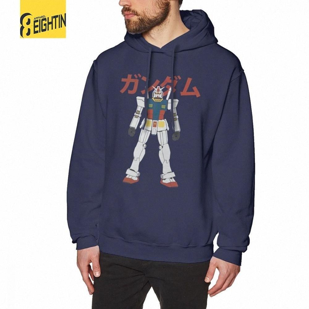 Mazinger z Gundam RX-78-2 Erkekler Kapşonlu Sweatshirt Yaratıcı% 100 Pamuk Kapüşonlular Yetişkin Kapşonlu f6OV # Tops
