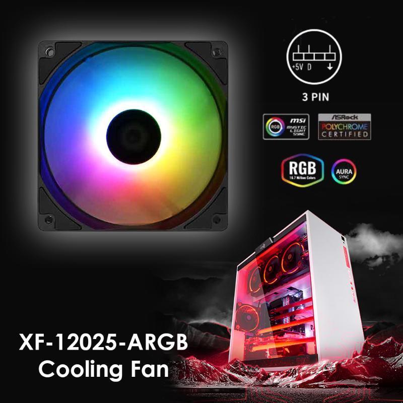 Air cooled fan XF-12025-ARGB PWM PC Case Fan