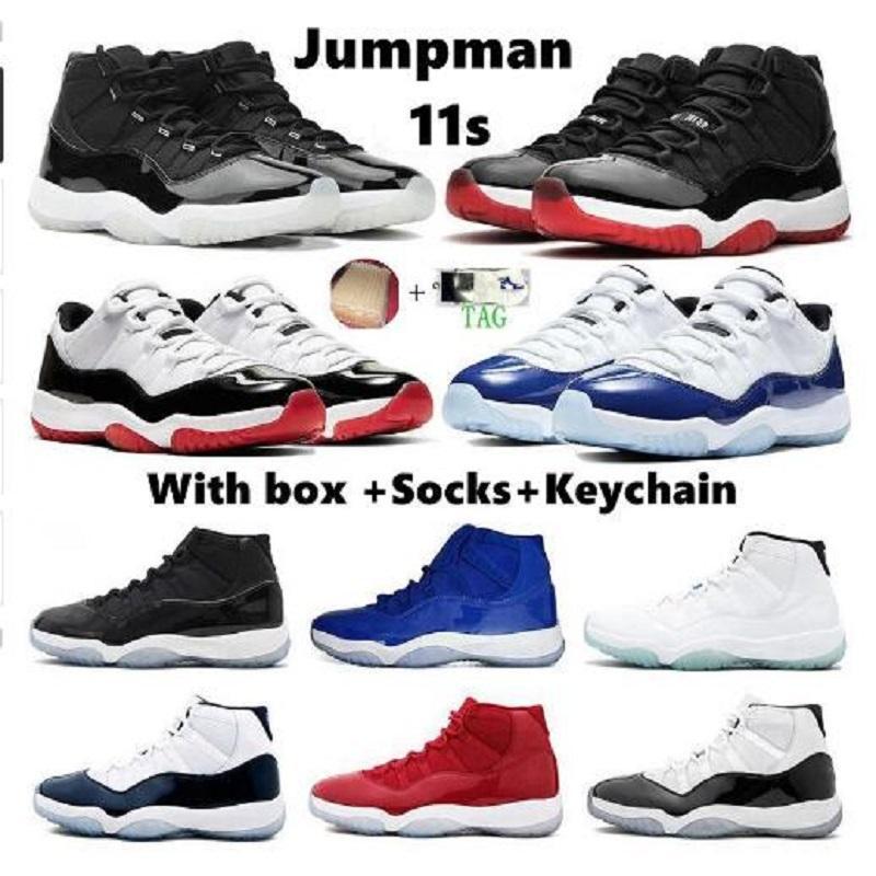 Yeni Erkekler Ayakkabı Jumpman 11 Düşük Mavi Beyaz Bred Erkek Basketbol Ayakkabıları 11 S RIP Mamba Lakers Ayakkabı Basketbol Erkekler Sneakers Trainer Zapatos