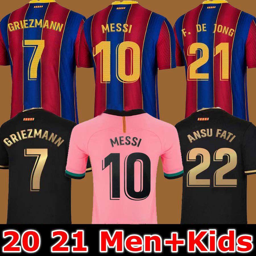 Барселона Футбол Джерси Барка 20 21 Камиссета де Футубол Ансу Фата Dest Pedri 2020 2021 Месси Гризман де Чунг Майолты де футболка