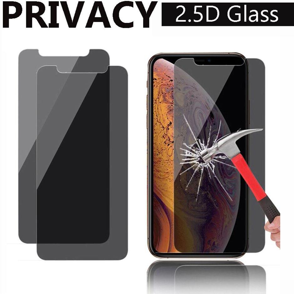 개인 정보 보호 방지 안티 - 엿보는 안티 스파이 2.5D 강화 유리 화면 보호기 아이폰 12 미니 프로 최대 아이폰 11 xr xs 최대 6 7 8 플러스 유리 opp 가방