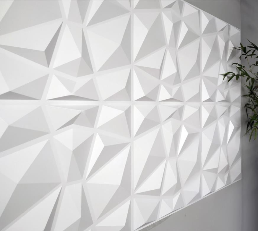 خلفية الزخرفية 3D الجدار تلبيس تصميم الماس 12 البلاط 32 قدم مربع (ألياف الخضروات) Wallstickers