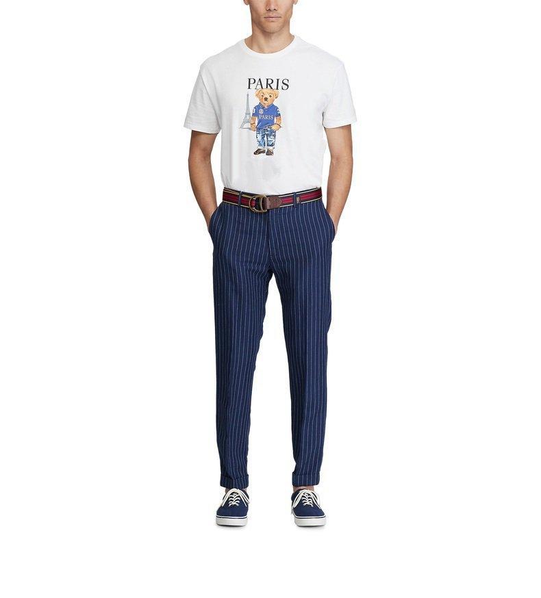 Camisa polo de alta qualidade da cidade de Paris com impressão 100% de algodão e impressão de urso, com desconto T-shirt de urso de mangas curtas, um tamanho de manga curta solta