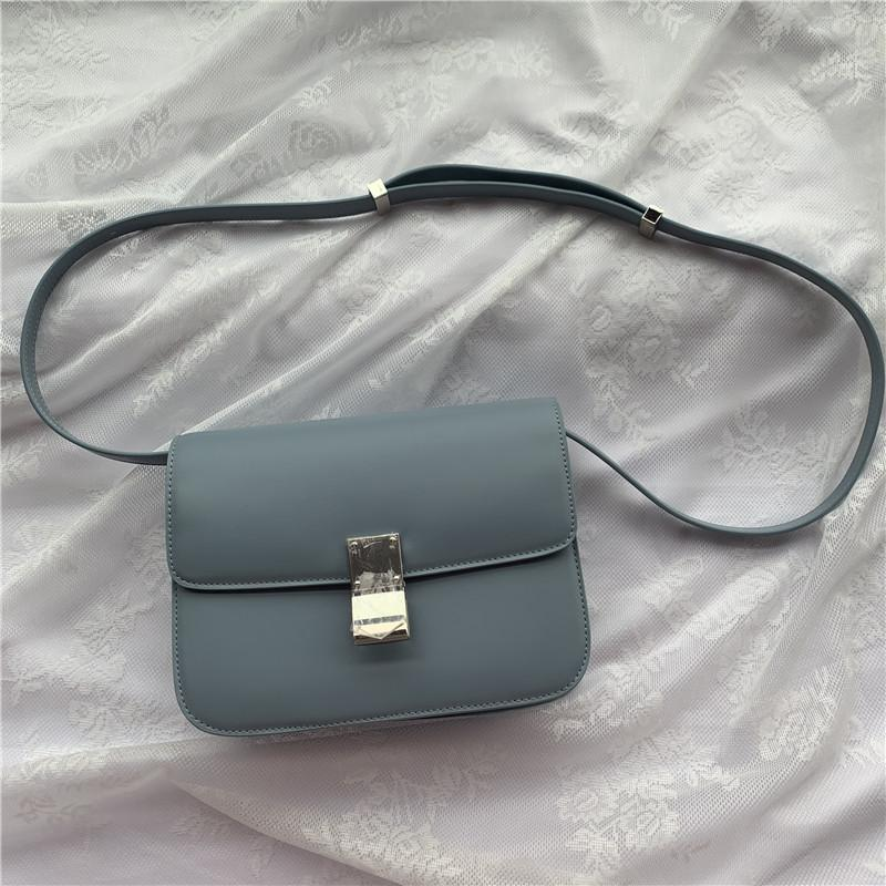 Deri bayan çanta moda basit bir retro omuz çantası flip flap haberci çantası büyük kapasiteli gündelik haberci çantası