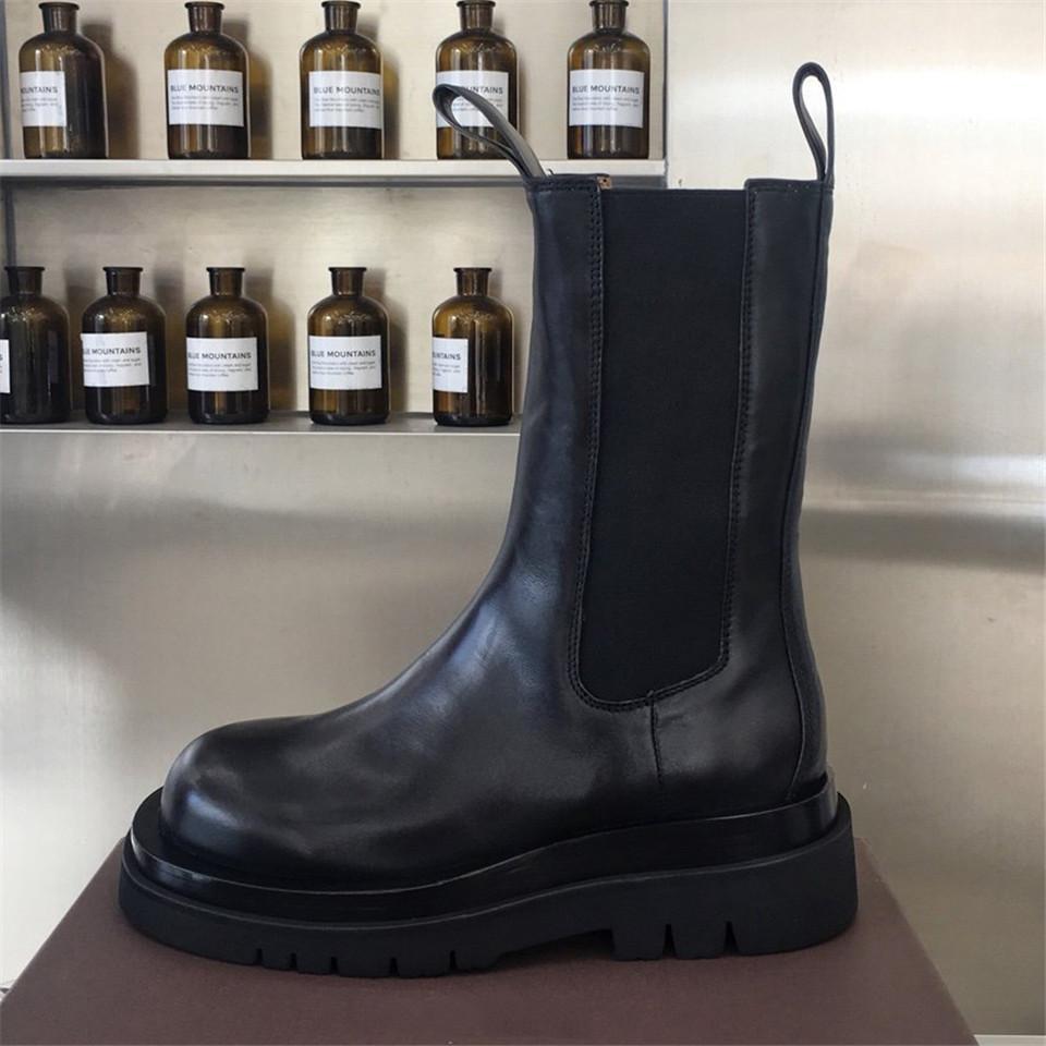Sıcak Satış-Sonbahar Ayak Bileği Boot kadın Deri Boot Platformu Kadın Çizmeler Kadın Deri Çizmeler