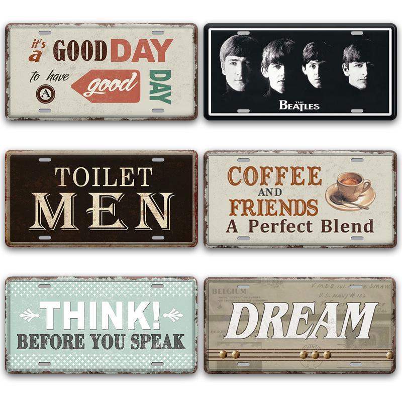 2021 boutique fermée homme ouvert portes métal signes vintage toilette douce maison décoration de la maison métal vintage vintage pub bar cafétéria garage décoration