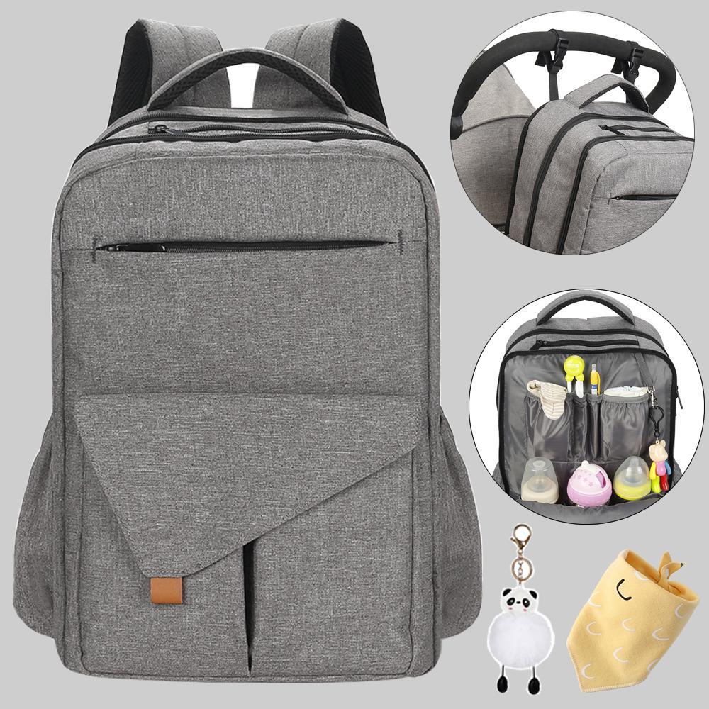 Waterproof Mummy Backpack Organizador recém-nascido Mãe do bebê de maternidade Bags For Mom Mommy Stroller Diaper Bag 1005