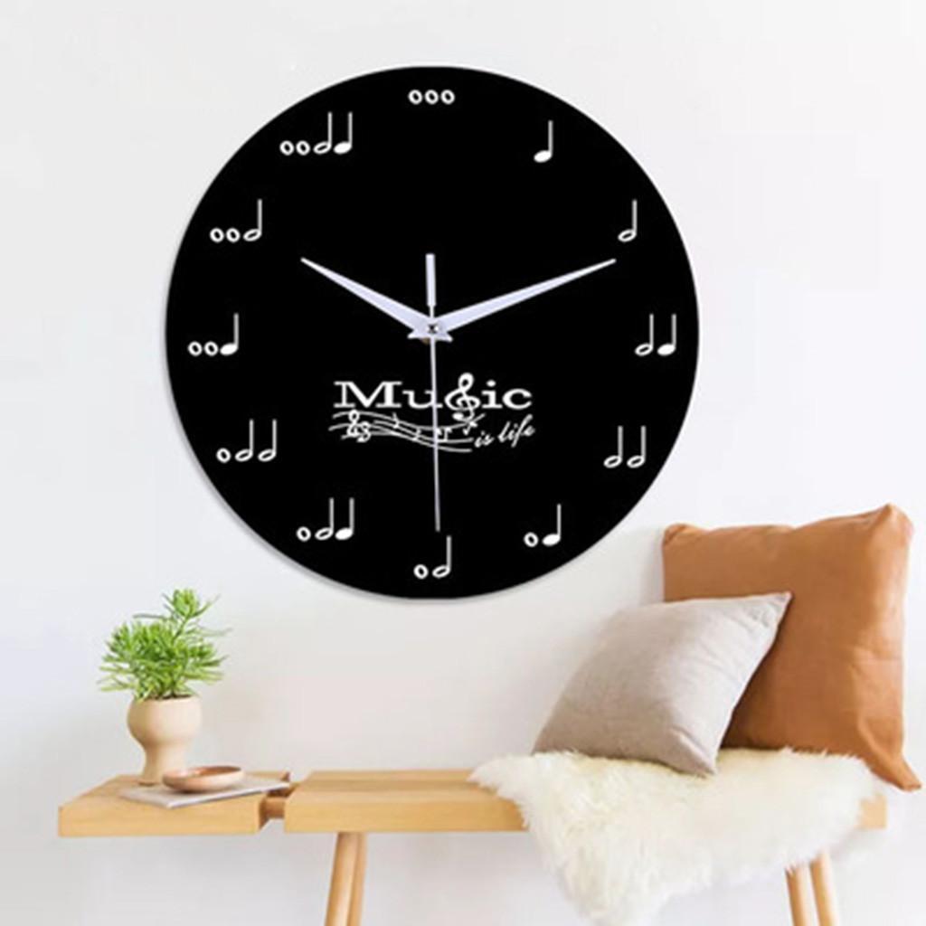 Horloge murale bricolage décoratif mur 12 pouces Sourdine décoratif Horloge Chambre Salon Musical Instrument Horloge Living Chambres 18.APR.22
