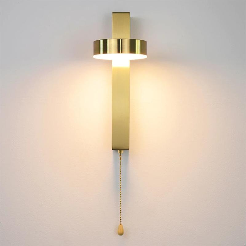 Lámpara de pared LED con interruptor 9W Nordic Wall Light Light Dormitorio Sala de estar Pasillo Estudio Lectura Sponces