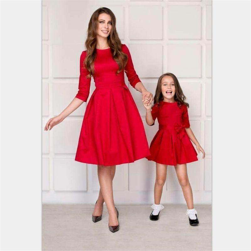 Дети детские наряды матери дочь платья одежда мама платье мама сестра девочка платья мамочка и дочь семьи сопоставление 201128
