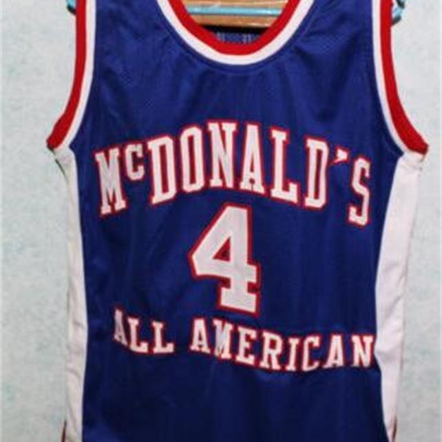 Benutzerdefinierte 604 Jugendfrauenweinlese # 4 Chauncey Billups McDonalds Alle amerikanischen Basketball-Jersey-Größe S-4XL oder benutzerdefinierte Name oder Nummer Jersey