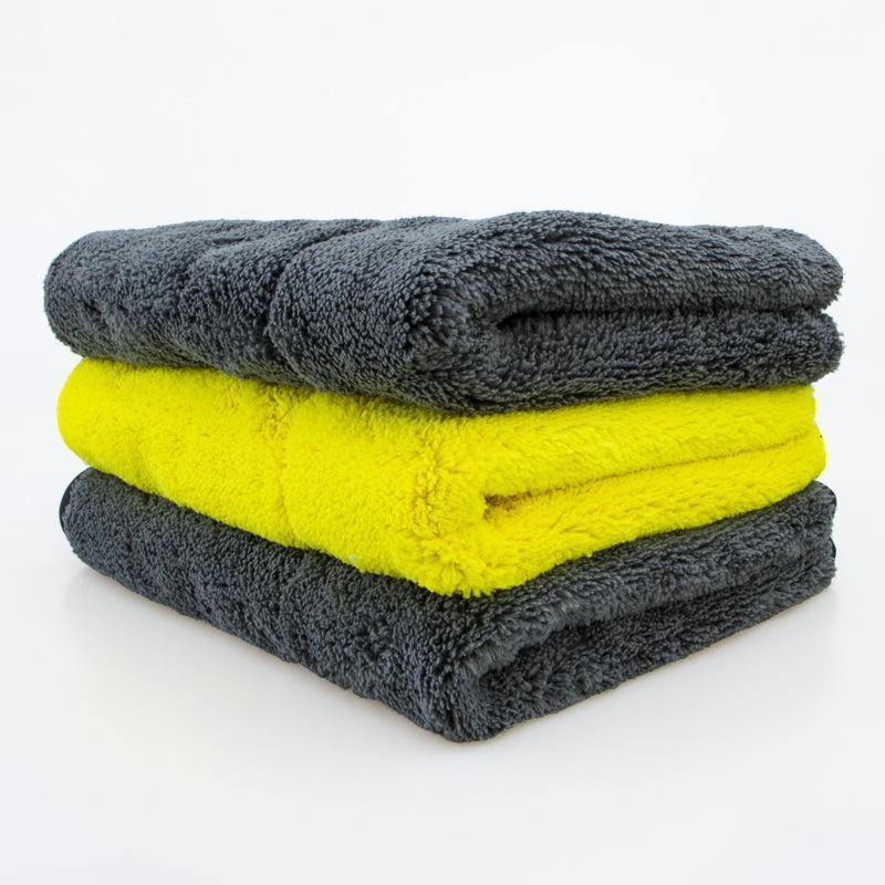 NUEVA LLEGADA Lave con lavado de coches Toallas de microfibra súper gruesa Paño de felpa para lavar limpieza de secado Absorber Cera pulido B-A01TW041