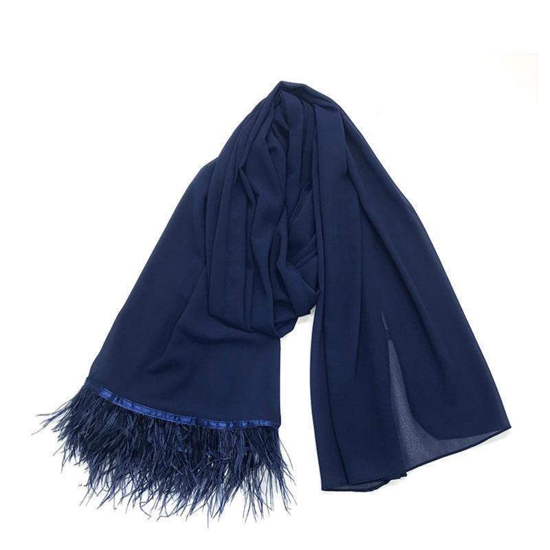 Hot S Fashion Verano Mujeres Bufanda Finales Mantones y envueltos Lady Solid Female Hijab Stoles Long FouD Head Bufandas -B5