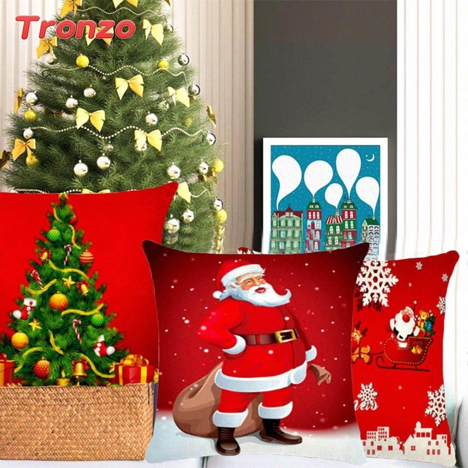 Tronzo Noel Süsleri Home For Merry Christmas Yastık Noel Yastık Noel Süsleri Yastık Kapak Yılbaşı e95Y # Malzemeleri
